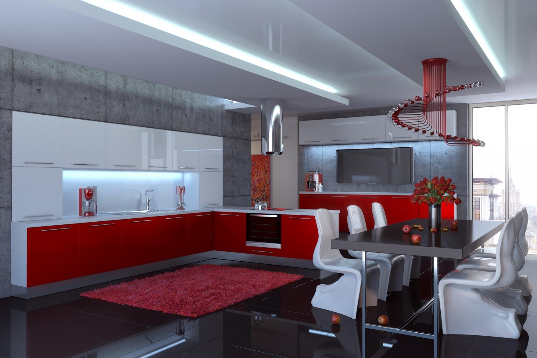 Кухня 3 в одном дизайн