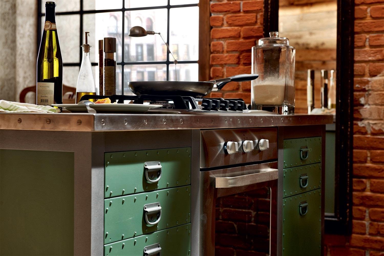 Кухонная мебель в стиле лофт своими руками 61