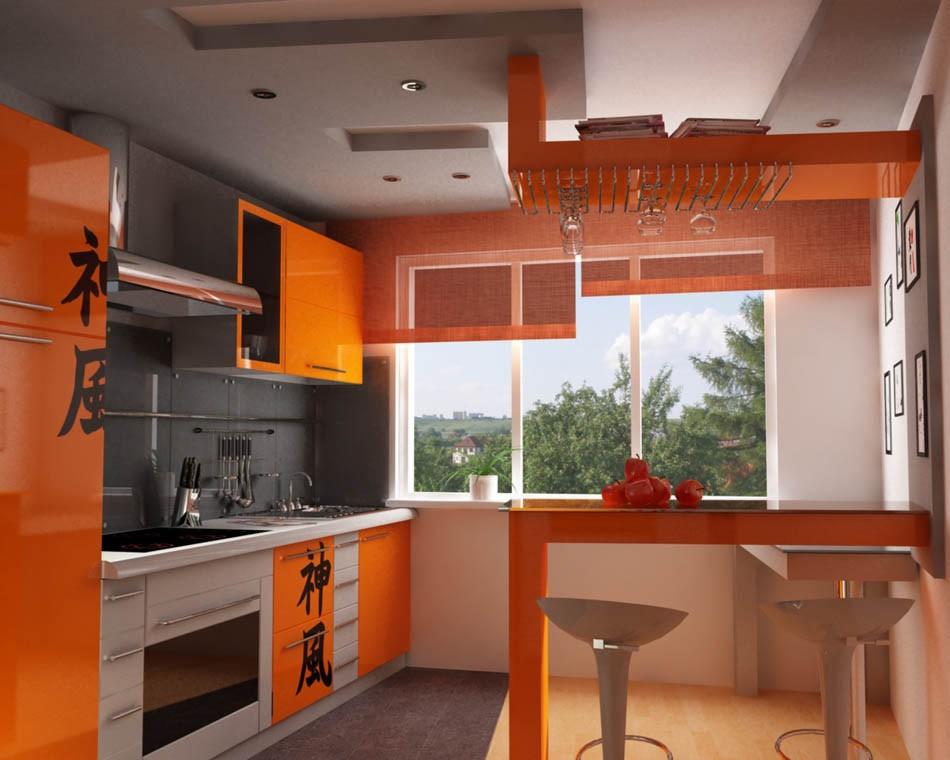 Интерьер кухни фото в оранжевых тонах фото
