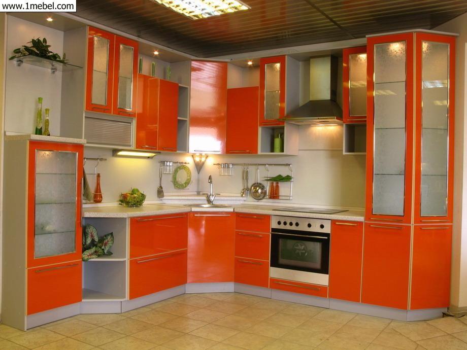 Кухни дизайн фото цвет оранжевый