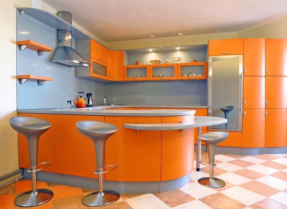 Дизайн в оранжевом цвете