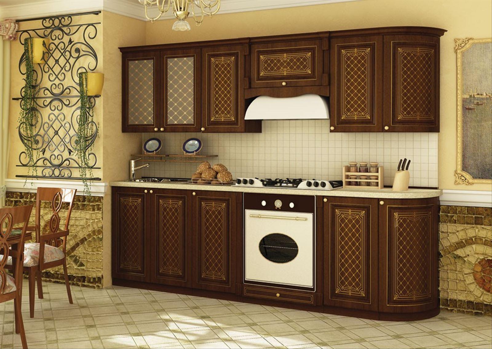 """Купить кухонный гарнитур """"ассоль"""" - орех аида табак (лд) люб."""