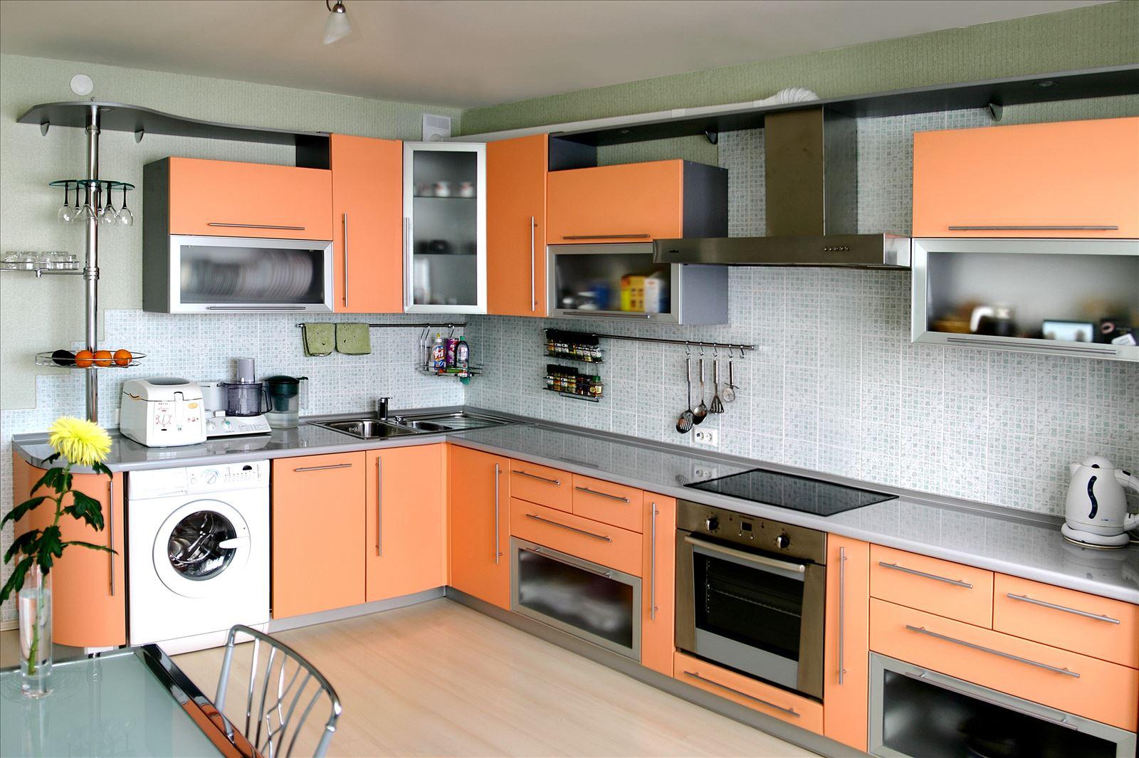 Кухни персикового цвета дизайн фото