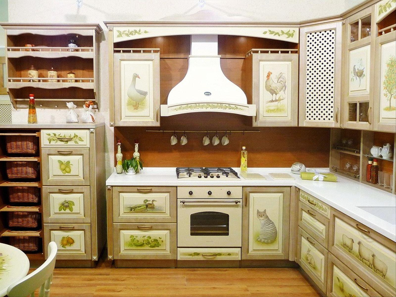 Фасад для кухни с рисунком своими руками