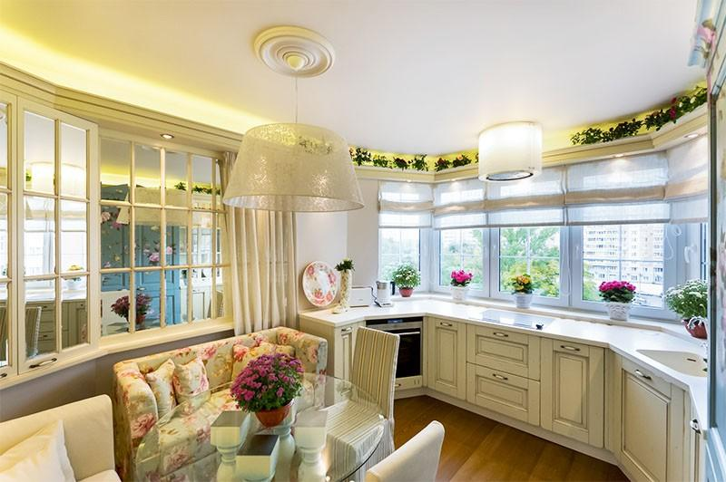 Дизайн кухни 13 кв м в стиле кантри