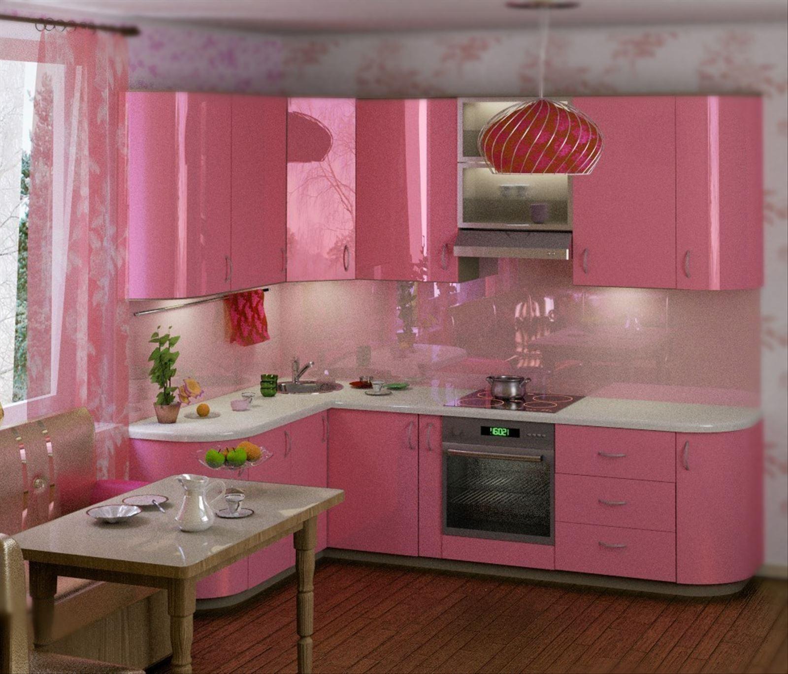 Розово-фиолетовый гарнитур фото 2