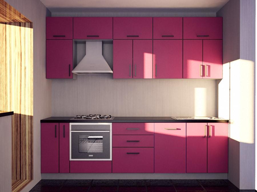 Дизайн розовой кухни фото