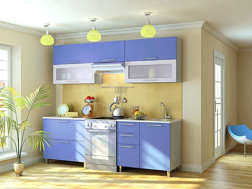 Кухни в сине-желтых цветах
