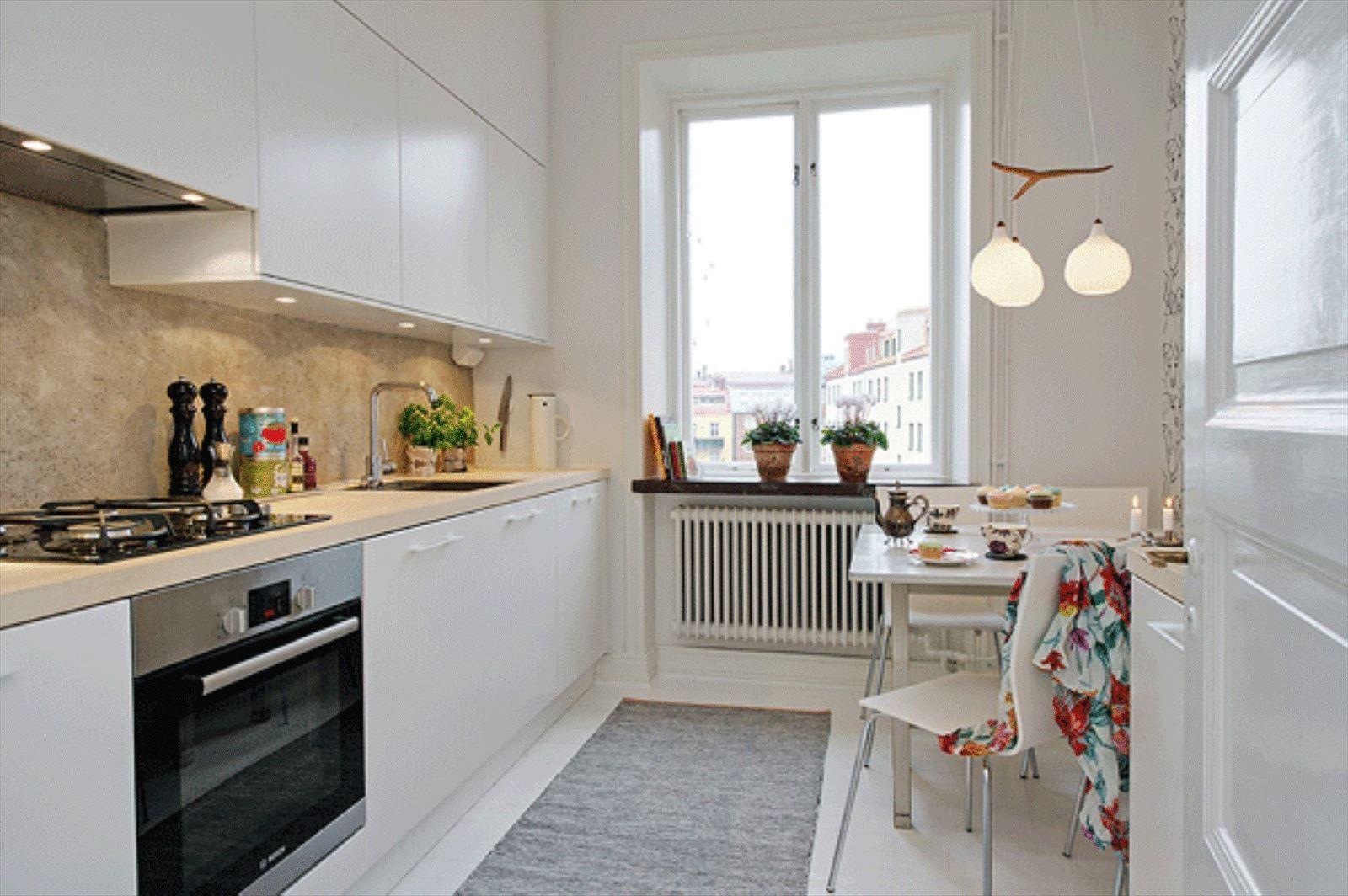 Кухни 7 кв.м в светлых тонах дизайн
