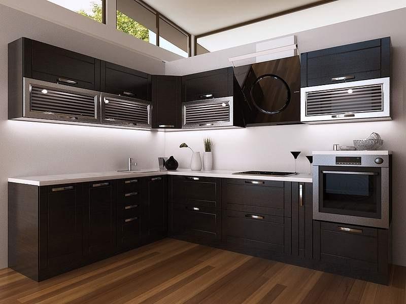 Дизайн кухни под венги