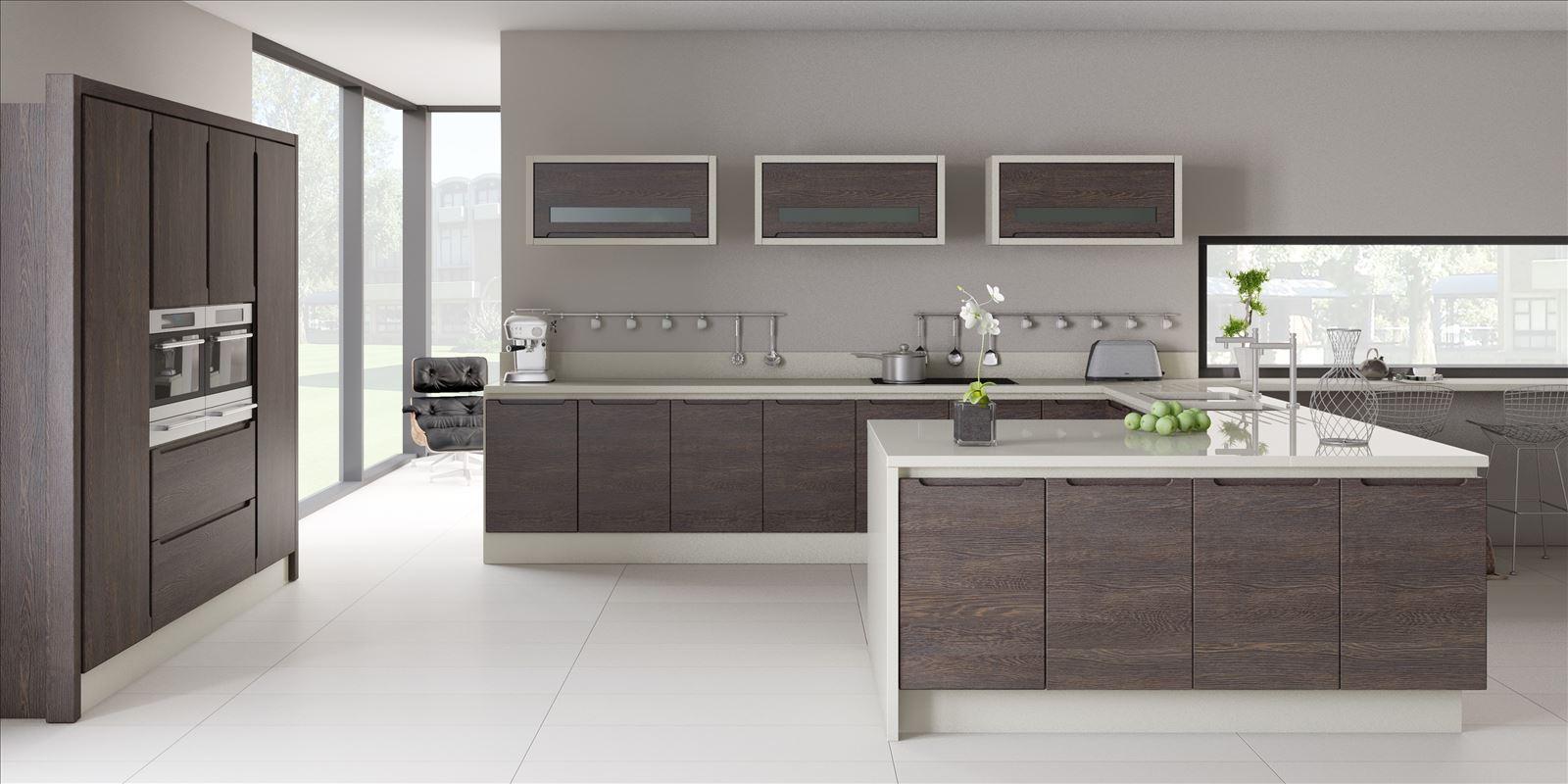 Галерея кухонь цвета венге, часть 4.