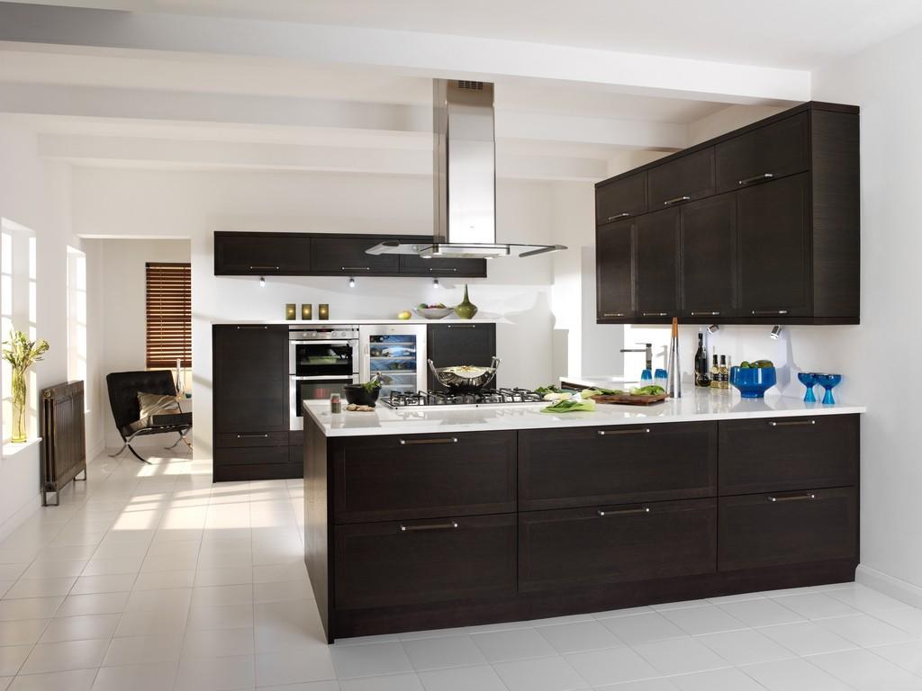 Кухня венге с белым дизайн кухни
