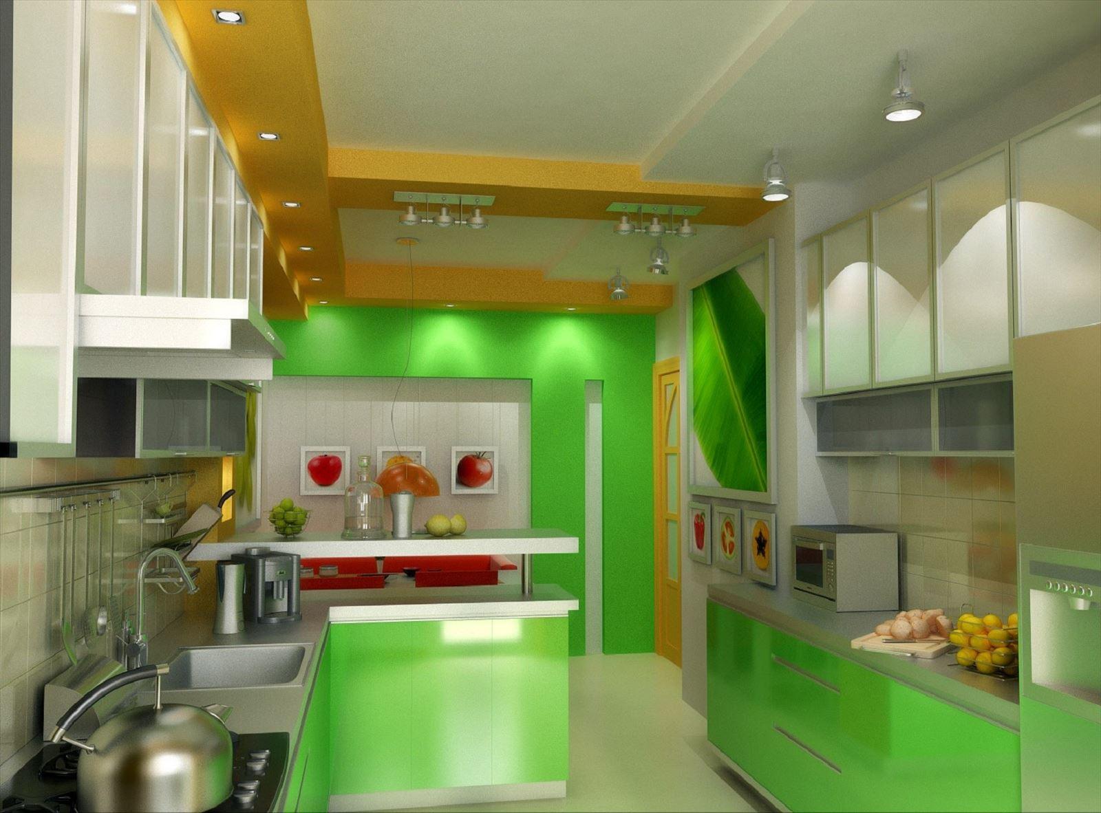 Кухня в светло зеленых тонах дизайн фото