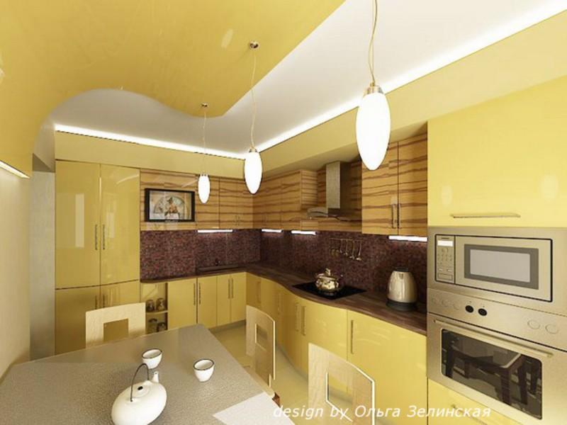 Кухня в желтых тонах фото
