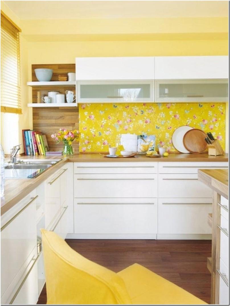 Идеи кухни в желтом цвете