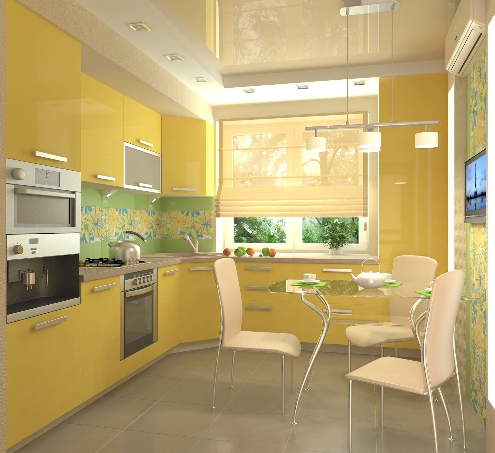 Фото кухонь в желтых цветах