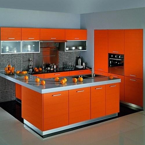 Оранжевые кухни