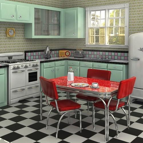 Кухни в стиле ретро