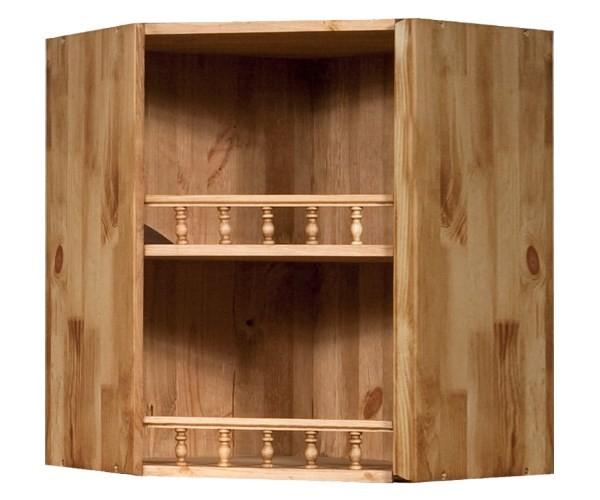 Угловой подвесной кухонный шкаф