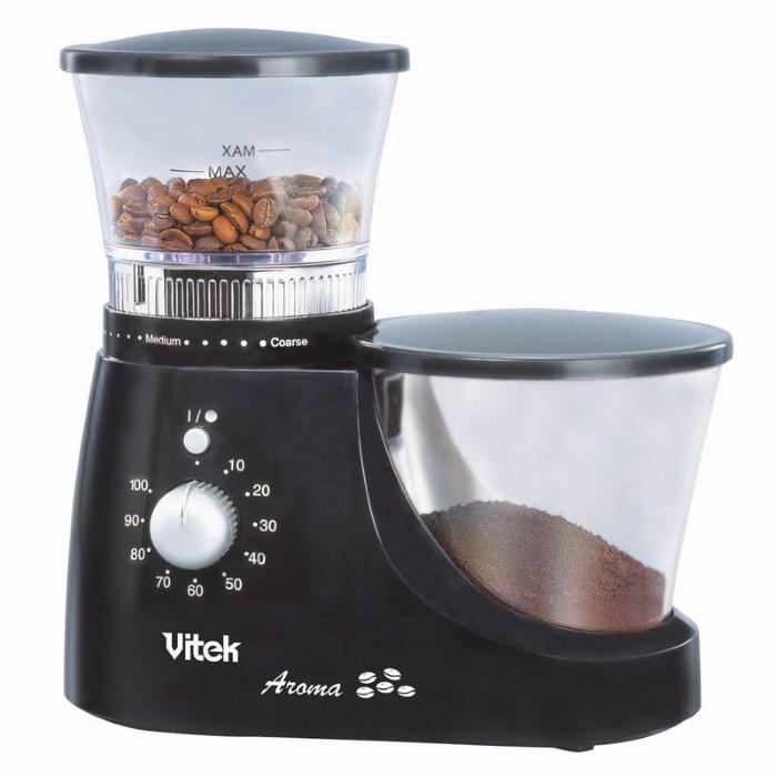 Электрическая жерновая кофемолка Vitek