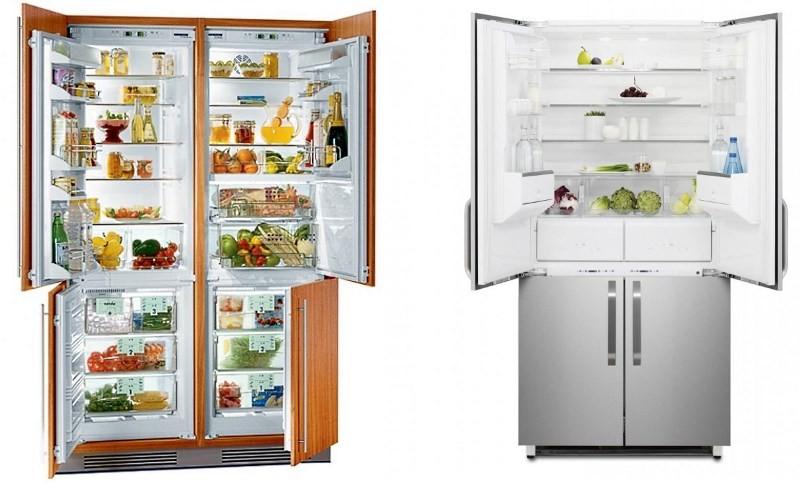 Большие холодильники Liebherr SBS 5712 и Electrolux ENX 4596 AOX