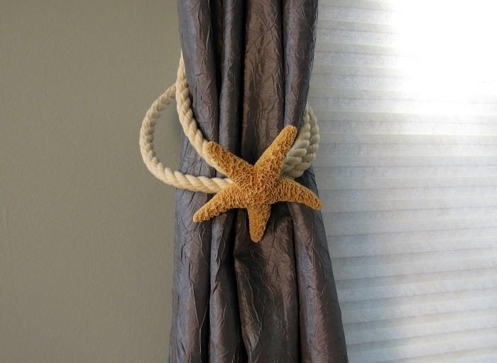 Зажим для штор в виде морской звезды