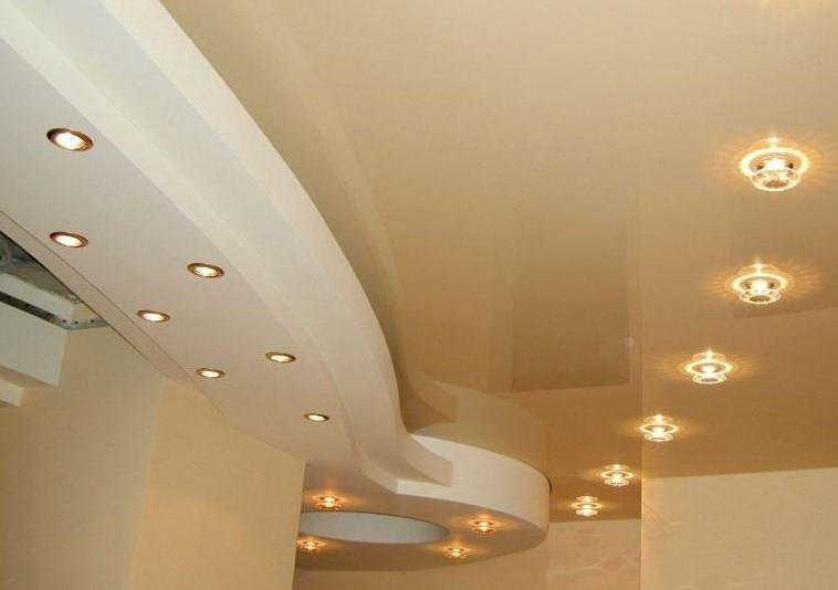 Встроенные в потолок светильники