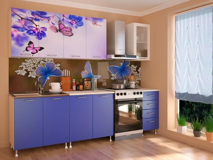 Кухонный гарнитур с фотопечатью
