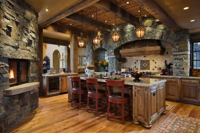 Английский средневековый дизайн кухни