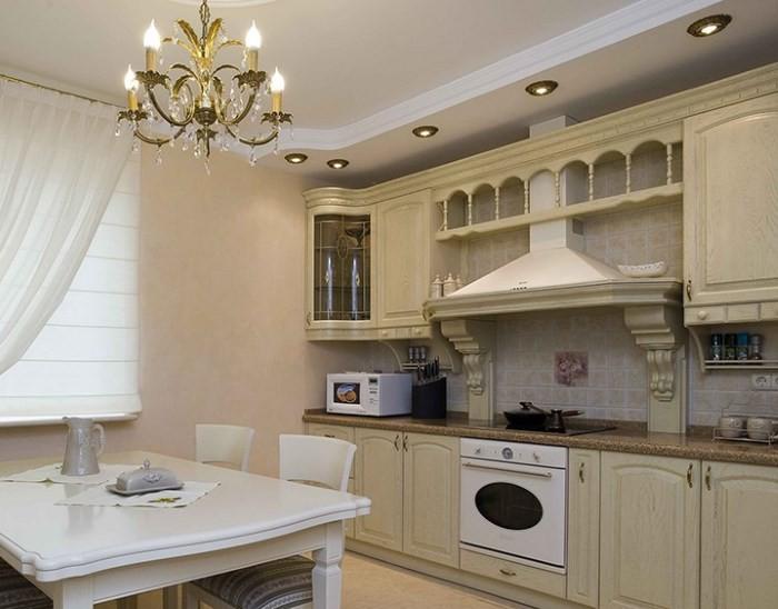 Кухня 9 кв м в классическом стиле