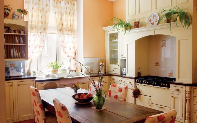 Кухня 9 кв м в стиле кантри