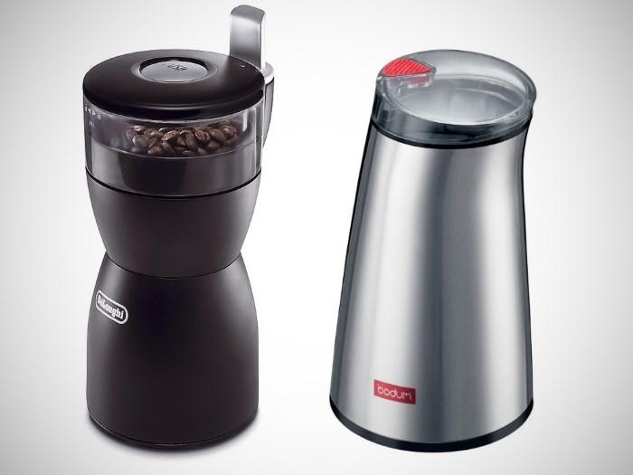 Ножевые кофемолки DeLonghi KG40 и BODUM C-Mill