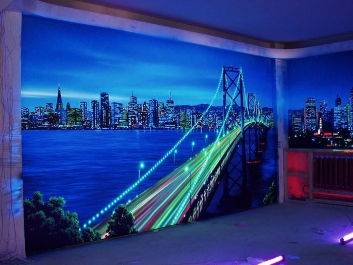 3D обои на стену для кухни и их фото в интерьере