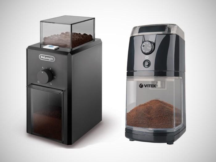 Жерновые кофемолки DeLonghi и Vitek VT-1548BK