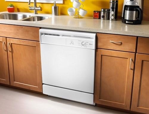 Частично встраиваемая посудомоечная машина