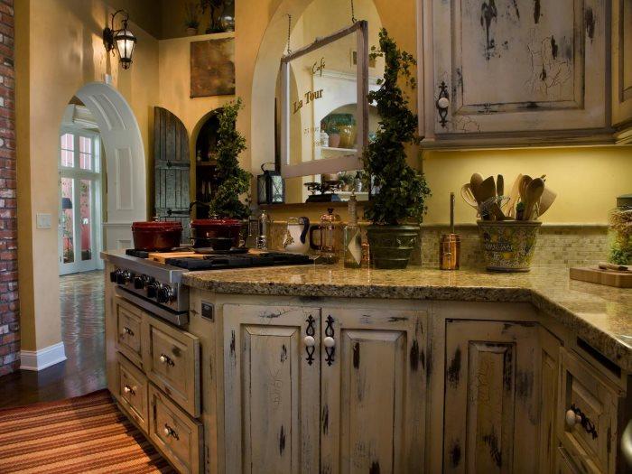 Дизайн кухни классика под старину