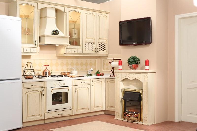 Стильно оформленный короб на кухне