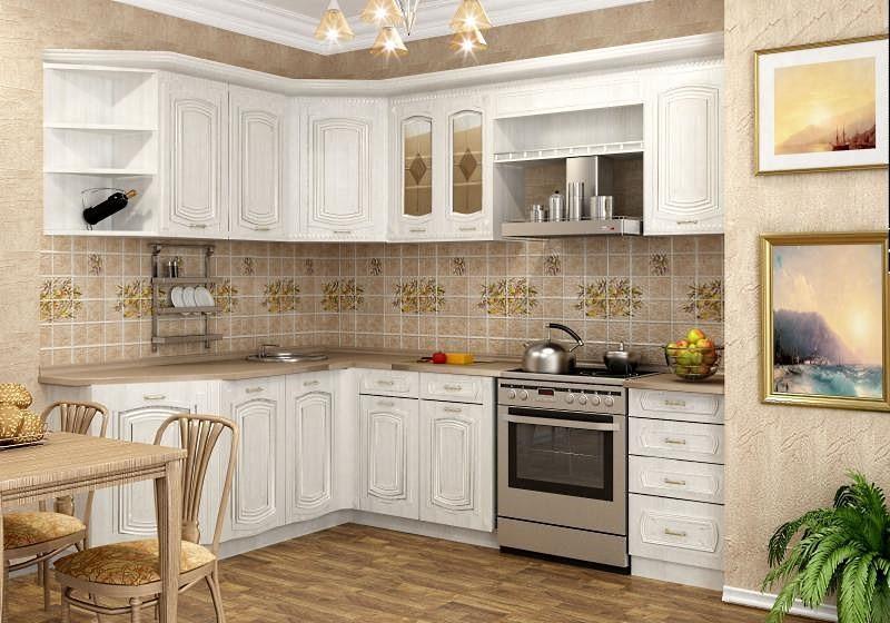 Вариант белого кухонного гарнитура
