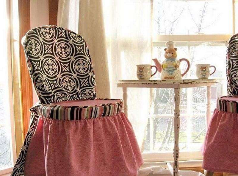 Длинная накидка на стул