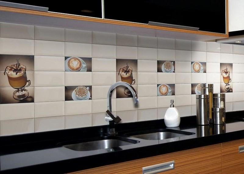пример дизайна фартука на кухне
