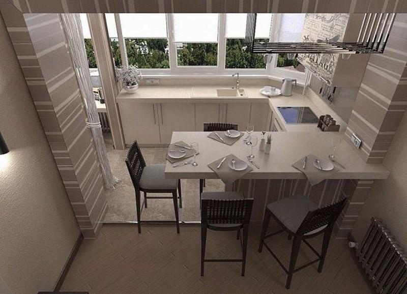 Дизайн квартиры совмещенного с лоджией