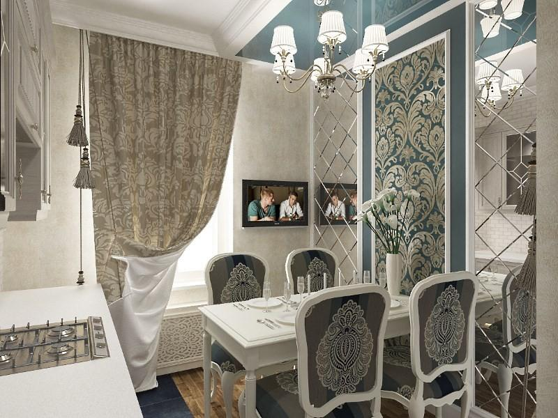 Вариант оформления помещения кухни в стиле арт деко