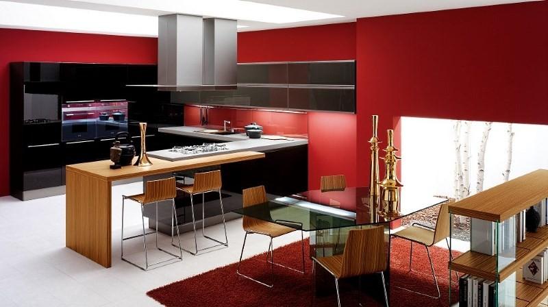 Барная стойка в дизайне совмещенной кухни