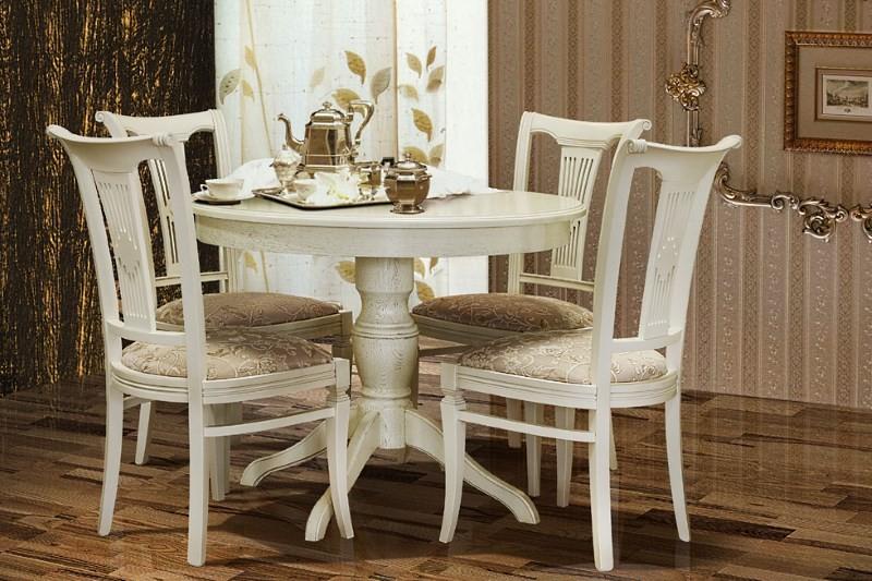 Белорусские стулья в белом цвете