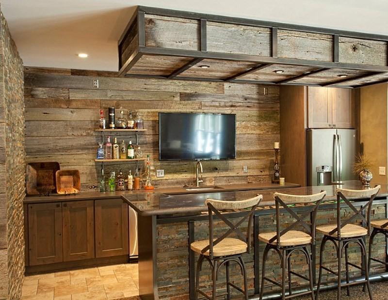Деревянная барная стойка