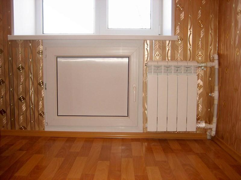 Хрущевский холодильник с металлопластиковым профилем