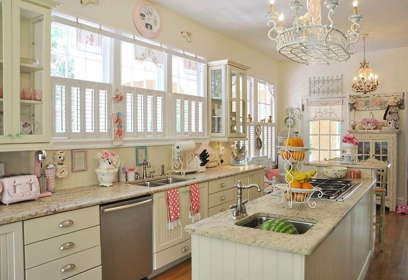Белая кухня в стиле ретро