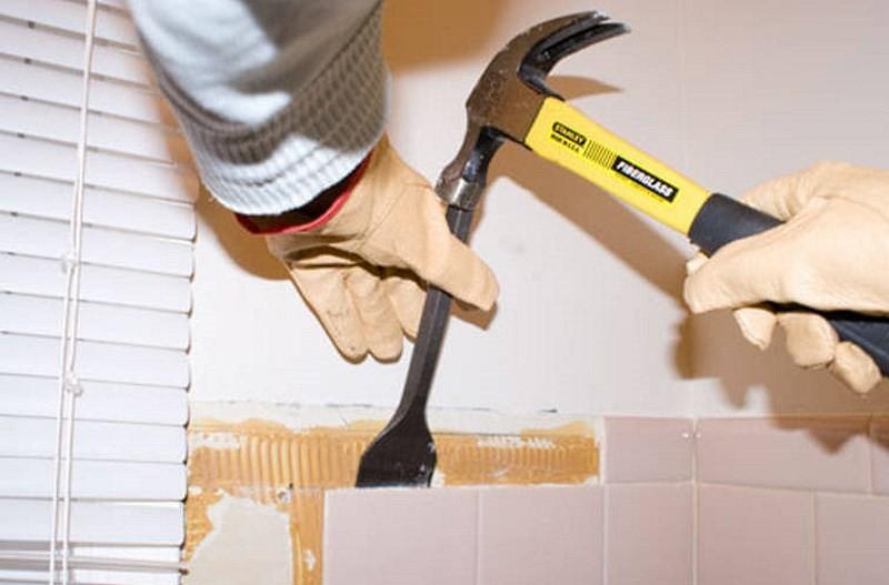 Ceramic tile removal tools