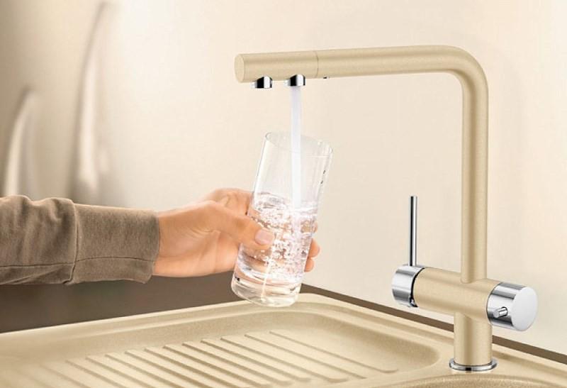 Комбинированный кран для питьевой воды