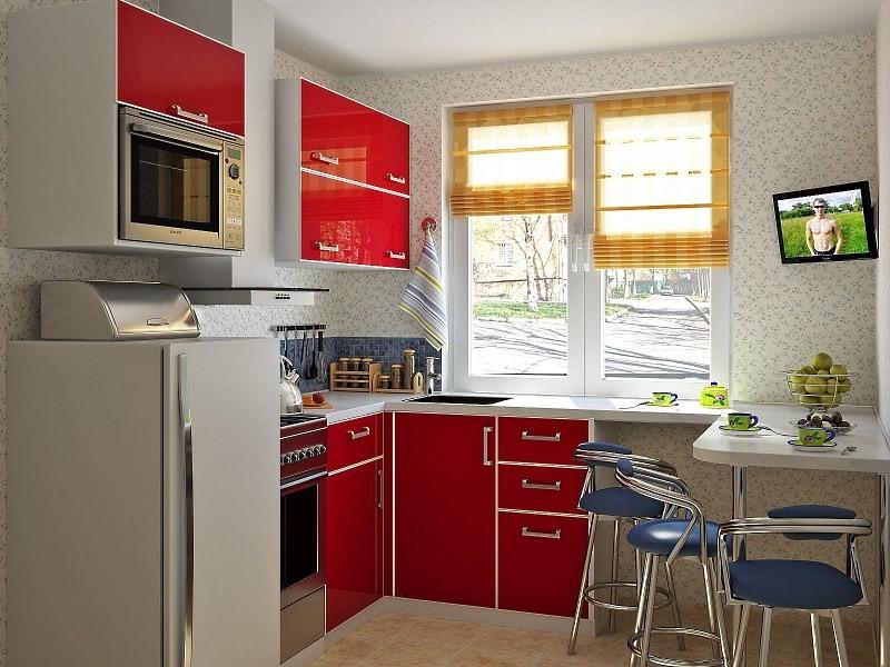 Дизайн кухни с холодильником в хрущевке